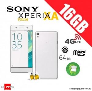 Sony Xperia XA F3116 Dual Sim 4G 16GB Unlocked Smart Phone White