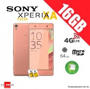 Sony Xperia XA F3116 Dual Sim 4G 16GB Unlocked Smart Phone Rose Gold