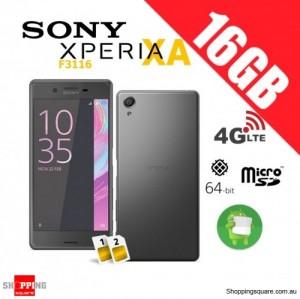 Sony Xperia XA F3116 Dual Sim 4G 16GB Unlocked Smart Phone Graphite Black