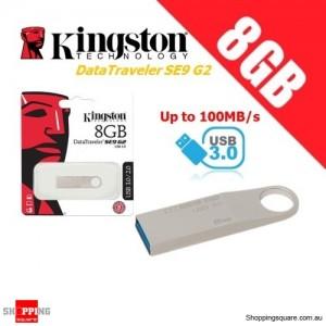Kingston DataTraveler SE9 G2 8GB Metal Case USB Flash Drive 3.0