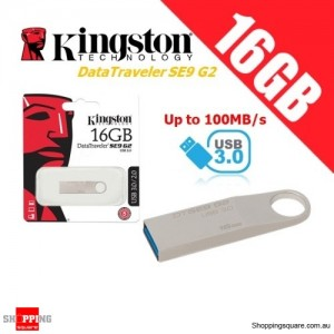 Kingston DataTraveler SE9 G2 16GB Metal Case USB Flash Drive 3.0