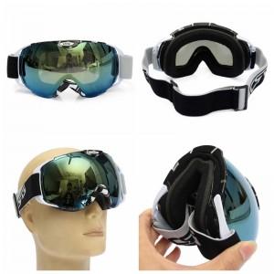 Anti-fog UV Dual Lens Snow Snowboard Ski Outdoor Goggle Motorbike Helmet Goggles