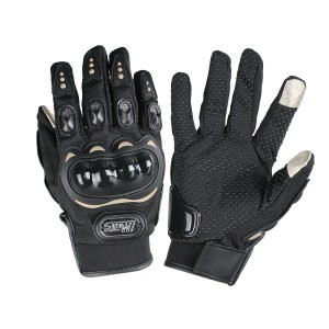 Full Finger Gloves Supported Touch Screen for Motorcycle Riding Sports Black Colour Size XXL