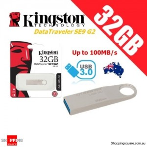 Kingston DataTraveler SE9 G2 32GB Metal Case USB Flash Drive 3.0