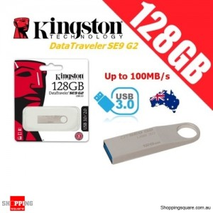 Kingston DataTraveler SE9 G2 128GB Metal Case USB Flash Drive 3.0