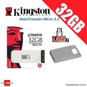 Kingston DataTraveler Micro 3.1 32GB USB Flash Drive Memory Stick Pendrive