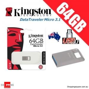 Kingston DataTraveler Micro 3.1 64GB USB Flash Drive Memory Stick Pendrive