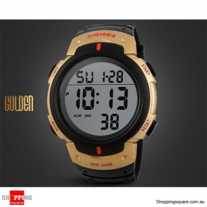 Mens Waterproof Digital Sports Watch Army Military Fashion Dress Water Resistant Gold Frost Colour