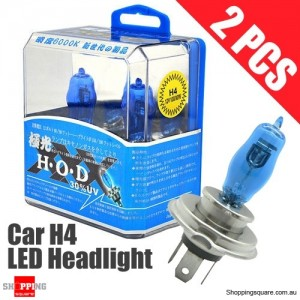 1 Pair of H4 Headlight Light Bulbs for Car 90/100W 5350K 12V Xenon Super White