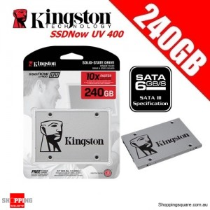 Kingston SSDNow UV400 240GB Solid State Drive SSD 2.5 inch SATA 3 Up to 550MB/s