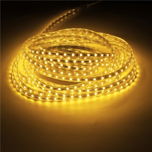 10M IP67 Waterproof 600SMD 5050 LED Light Strip 220V - Warm White
