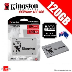 Kingston SSDNow UV400 120GB Solid State Drive SSD 2.5 inch SATA 3 Up to 550MB/s
