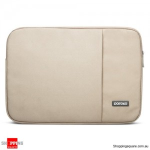 13 Inch POFOKO Laptop Sleeve Case Bag For Apple MacBook Air Pro Beige Colour