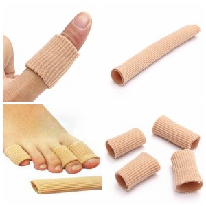 Fabric-Covered Gel Tube Bunion Protector for Toes Fingers Calluses Corns