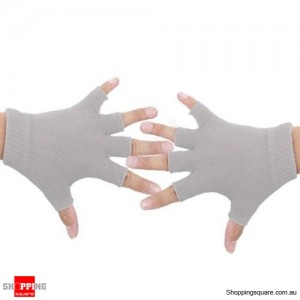 Yoga Fitness Fingerless Non-Slip Gloves Sport Gym Bike Cycling Hand Palm Support Gray Colour