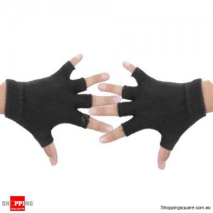 Yoga Fitness Fingerless Non-Slip Gloves Sport Gym Bike Cycling Hand Palm Support Black Colour