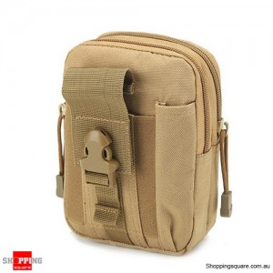 Tactical Military Molle Waist Bag Pack Portable Mini Bag Nylon Phone Wallet For Travel Sports Khaki Colour