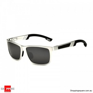 VEITHDIA 6560 Aluminium Polarized Mirror Sunglasses for Outdoor Driving Fishing - Silver Mirror with Silver Frame