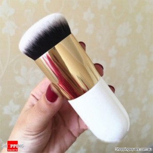 Soft Flat Foundation Face Makeup Brush for Cosmetics Blush Kabuki Powder Contour Gold Colour
