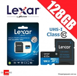 Lexar 633x 128GB High Performance microSDXC UHS-I 95MB/s with SD Adapter