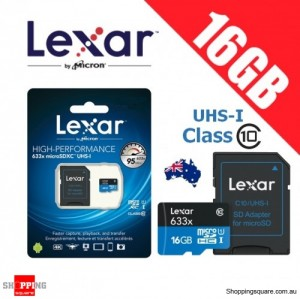 Lexar 633x 16GB High Performance microSDHC microSDXC UHS-I 95MB/s 4K Full HD