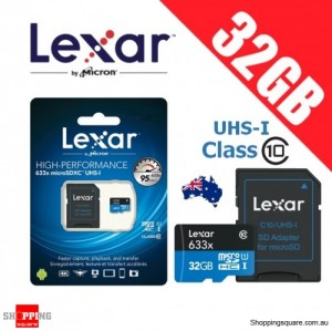 Lexar 633x 32GB High Performance microSDHC microSDXC UHS-I 95MB/s 4K Full HD