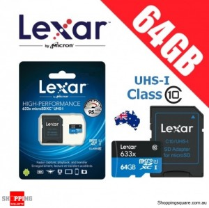 Lexar 633x 64GB High Performance microSDHC microSDXC UHS-I 95MB/s 4K Full HD