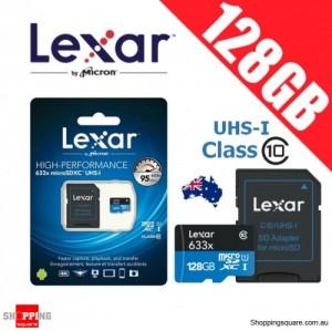 Lexar 633x 128GB High Performance microSDHC microSDXC UHS-I 95MB/s 4K Full HD