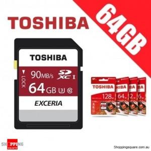 Toshiba Exceria 64GB SDHC SDXC Memory Card UHS-I U3 4K FHD Up to 90MB/s