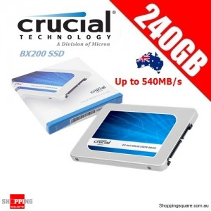 "Crucial BX200 240GB SATA 2.5"" 7mm (with 9.5mm adapter) Internal SSD Solid State Drive"