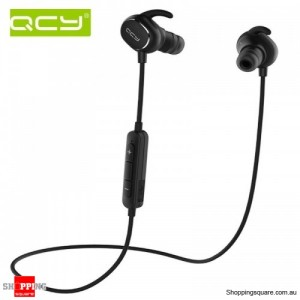 QCY QY19 Phantom Wireless Bluetooth 4.1 Sport Anti-sweat Headphone Earphones with Mic Black Colour