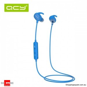 QCY QY19 Phantom Wireless Bluetooth 4.1 Sport Anti-sweat Headphone Earphones with Mic Blue Colour