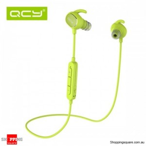 QCY QY19 Phantom Wireless Bluetooth 4.1 Sport Anti-sweat Headphone Earphones with Mic Green Colour
