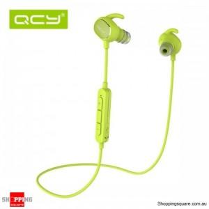QCY QY19 Phantom Wireless Bluetooth 4.1 Sport Anti-sweat Headphone Earphones with Mic Green Colour