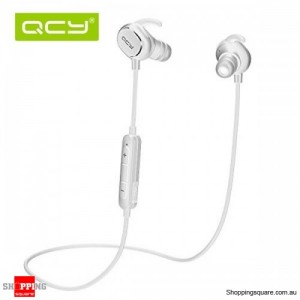 QCY QY19 Phantom Wireless Bluetooth 4.1 Sport Anti-sweat Headphone Earphones with Mic White Colour