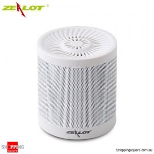 ZEALOT S5 2000mAh Outdoor Portable Wireless Bluetooth 4.0 Speaker TF Card AUX FM Radio USB Drive White Colour