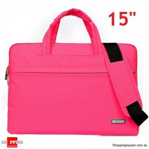 15 inch Sleeve Carry Case Cover for Dell Macbook Pro Ultrabook Laptop Pink Colour