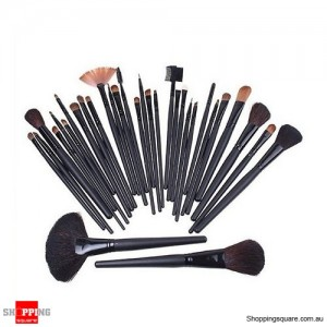 32Pcs Set Makeup Cosmetic Brushes Tool for Foundation Powder Eyeshadow Black Colour