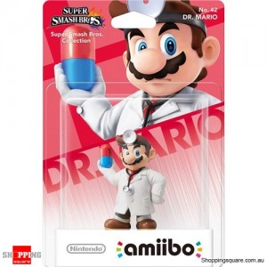 Amiibo No. 42 Dr. Mario for Nintendo Super Smash Bros.
