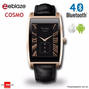 "Zeblaze COSMO 1.61"" Bluetooth 4.0 IP65 Smart Watch for IOS & Android Gold Colour"