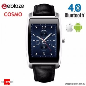 "Zeblaze COSMO 1.61"" Bluetooth 4.0 IP65 Smart Watch for IOS & Android Silver Colour"