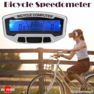 Digital Bicycle Bike Computer Odometer Speedometer with LCD Backlight