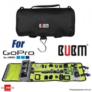 BUBM Rolling portable Shockproof Carrying Case for Gopro bags for Gopro Hero 5, 4, 3+, 3, 2, 1 Black Colour