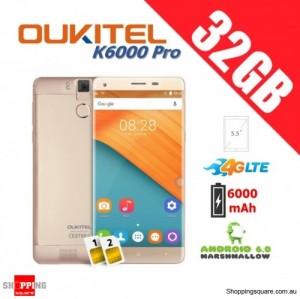 Oukitel K6000 Pro Dual Sim 4G 32GB Unlocked Smartphone Gold
