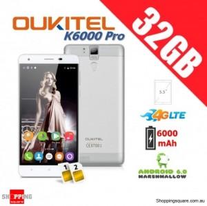 Oukitel K6000 Pro Dual Sim 4G 32GB Unlocked Smartphone White