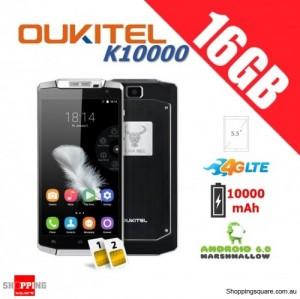Oukitel K10000 Dual Sim 4G LTE 16GB Unlocked Smartphone Black