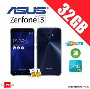 Asus Zenfone 3 ZE520KL 32GB 4G LTE Unlocked Smart Phone Sapphire Black