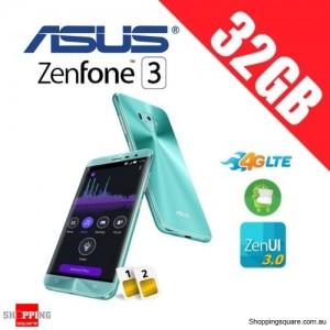 Asus Zenfone 3 ZE520KL 32GB 4G LTE Unlocked Smart Phone Aqua Blue