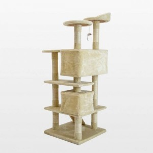 Cat Tree Scratching Post Scratcher Multi Level 132cm Soho - Beige
