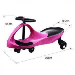 Swing Car Slider Kids Fun Ride On Toy with Foot Mat Pink